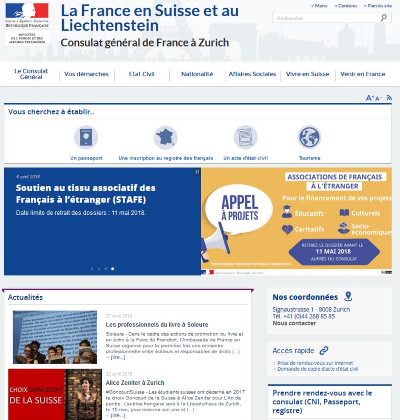 consulat de france à Zurich