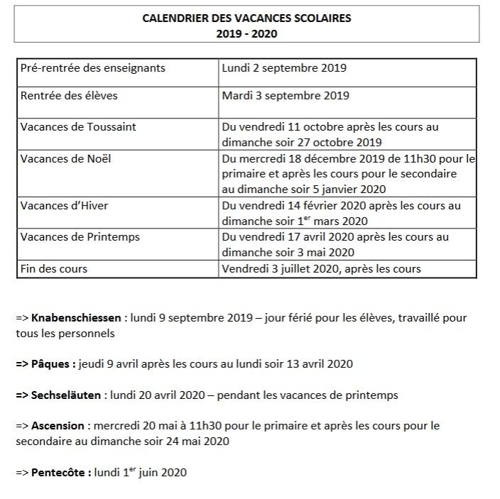 Calendrier Scolaire Mai 2020.Calendrier Scolaire Lycee Francais De Zurich
